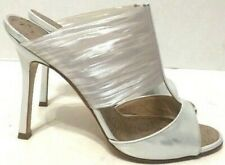 Manolo Blahnik Strappy Sandals Silver Patent Leather Womens Size EU36/US6