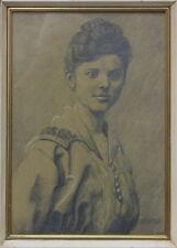 Bildnis einer jungen Frau Bleistiftzeichnung, um 1900
