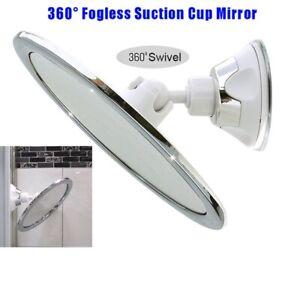 360°AntiFog Shower Mirror Fogless Shaving Shave Bathroom Suction Cup w/ Holder.