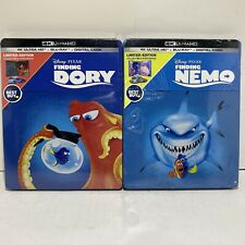 Finding Nemo + Finding Dory 4k + BluRay + Digital Steelbook Lot