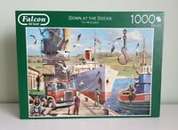 Falcon Deluxe Down At The Docks 1000 Piece Jigsaw Puzzle, Checked & Complete