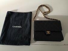 Chanel Black Quilted Lambskin Single Flap Bag Vintage