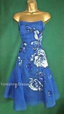 Knee Length Silk Floral Ballgowns for Women