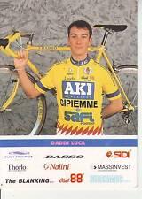 CYCLISME carte cycliste DADDI LUCA équipe AKI GIPIEMME