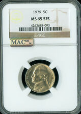 1979 JEFFERSON NICKEL NGC MAC MS65 FS PQ 2ND FINEST GRADE RARE SPOTLESS  GC .