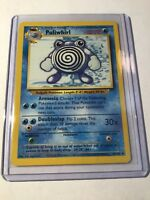 POLIWHIRL - Base Set - 38/102 - Uncommon - Pokemon Card - Unlimited Edition - NM