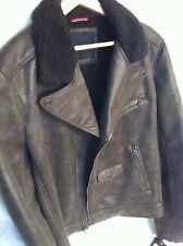 Tommy Hilfiger Men's Faux Leather Bomber Jacket Size L Retail $ 295.00