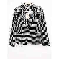 Philosophy Notched Collar One Button Blazer Striped Jacket Stretch Size S New