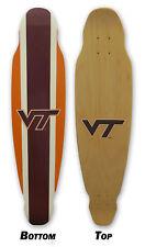 Virginia Tech Longboard Skateboard Deck Vt Hokies Logo Long Board Skateboards