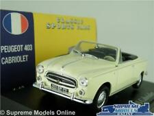 PEUGEOT 403 CAR MODEL 1:43 SIZE CREAM CABRIOLET ATLAS NOREV CONVERTIBLE SPORT T3