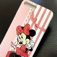 For iPhone 7+/  8+ PLUS - HARD TPU RUBBER SLIM SKIN CASE COVER PINK MINNIE MOUSE
