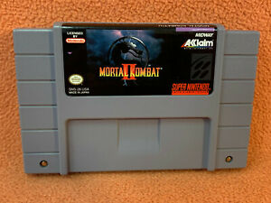 Mortal Kombat II 2 Super Nintendo SNES Original Authentic Retro Classic!