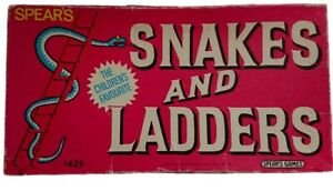 Vintage 1960s Spears Games Snakes And Ladders Board Game