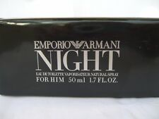 EMPORIO ARMANI NIGHT for HIM Eau de TOILETTE 50 ml   RARE ORIGINAL DISCONTINUED