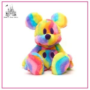 DISNEY MICKEY MOUSE RAINBOW PLUSH TOY BRAND NEW WITH TAG