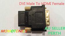 DVI Male To HDMI Female Plug Converter Adapter for HDTV