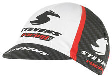 NEU! STEVENS Rennmütze Carbon Racing Rot Rennrad Cap Mütze Kappe Logo Schwarz