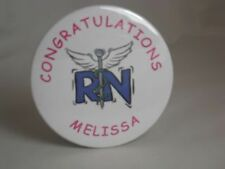 RN PERSONALIZED NURSE BUTTON, NURSING SCHOOL GRADUATE