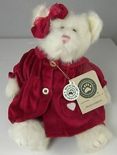 "Felicia Fuzzbuns Boyds Bears Plush White Kitty Cat Red Velvet 912090 12"" NWT"