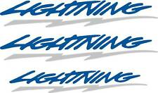 Ford F-150 Lightning Decals- 2 color, Reflective BOLT - SALE - Complete Set of 3