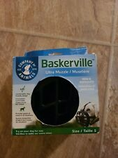 Baskerville Ultra Muzzle for Dogs Black Size 5,new * wont ship in original box*