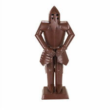 "15"" Suit of Armor Medieval Knight Cast Iron Copper Finish Decorative Collectible"