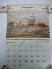 1978 Remington Calendar, Ready For Display in That Cabin Setting Hunting Elk