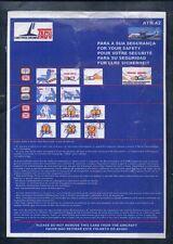 TACV CABO VERDE AIRLINES ATR 42 airline SAFETY CARD leaflet ee e536