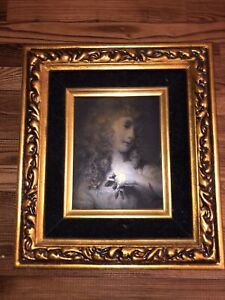 Antique Mid 1800's Framed French Metal Etching Print Plate