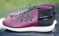 UNDER ARMOUR Mens Sneaker Mid Leather Purple Black Veloce Size 10 Chukka Fashion