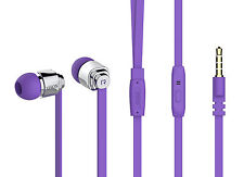 Headset For HTC One M9, M8,M7, Desire 510,610  In Ear Stereo Headphones PURPLE