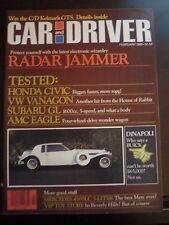 Car & Driver Magazine February 1980 Radar Jammer 450SLC Civic Eagle No Label TKK