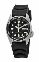 Seiko Men's Black Automatic Stainless Steel & Rubber Dive Watch SKX013K1