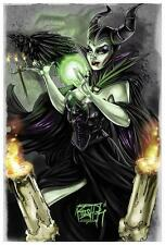 Maleficent by Kris Chisholm Fine Art Print  Disney Sleeping Beauty Evil Witch