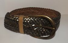 "NEW! BRAVE BELT~ WOVEN METALLIC GOLD LEATHER 3"" WIDE~LARGE GOLD BUCKLE~FASHION"