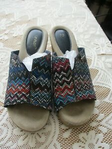 FLY FLOT MADE IN ITALY WOMENS MULES SIZE 37, UK SIZE 4 MULTI COLOURED