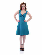 STEADY CLOTHING TEAL DIVA SWING DRESS - 1950s ROCKABILLY PIN UP GIRL - XXL