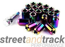 Steel Lug Nuts Stahl Radmuttern NEO-CHROM M12x1.5 Honda,Toyota,Mazda,Ford,Mitsub