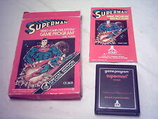 ATARI 2600 7800 GAME;  SUPERMAN  1979 Complete in Original Box  *Rarity 2* FUN