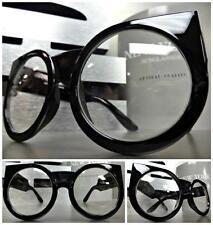 LARGE OVERSIZE VINTAGE Style Clear Lens EYE GLASSES THICK BLACK FASHION FRAME