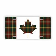 Canada Maple Leaf Tartan Flag Novelty License Plate