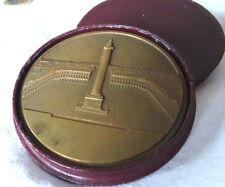 médaille bronze 125e anniversaire Cie assurance l'Union , 1954 étui d'origine