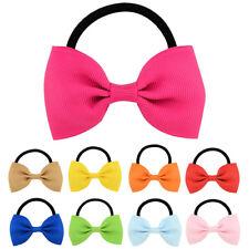 20pc Baby Girls Elastic Hair Band Bow Grosgrain Ribbon Ponytail Holders Headband