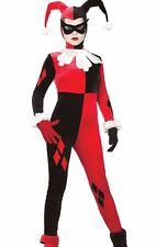 Harley Quinn Costume Adult Batman Gotham Quin Evil Jester - Small 6-10 - Fast -
