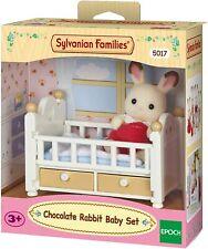 Sylvanian Families Chocolate Rabbit Baby Set,Figure + Furniture Set