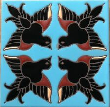 """6x6 Decorative Tile """"Birds"""" ~ Stair Risers, Hearths, Fountains, Pool Safe"""
