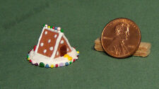 1:12 Or 1:24 Dollhouse Miniature Gingerbread House - Dots Roof - 2014 Series