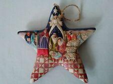 "Jim Shore Heartwood Creek Nativity Store Stone Resin Hanging Ornament 5"""