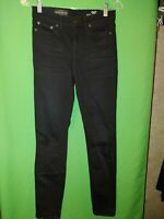 1551) J CREW 26 2 black Look Out High Rise denim distressed jeans skinny 26