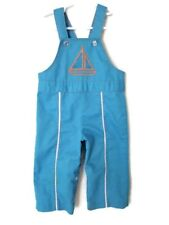 Baby Boy Sz 12 Months Overalls Vintage sailboat nautical